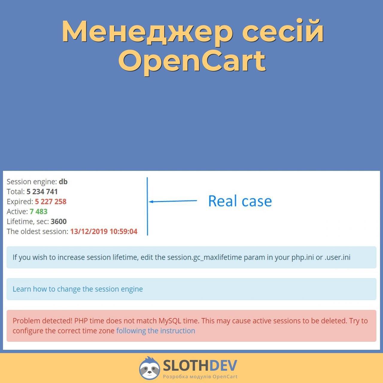 Менеджер сесій OpenCart