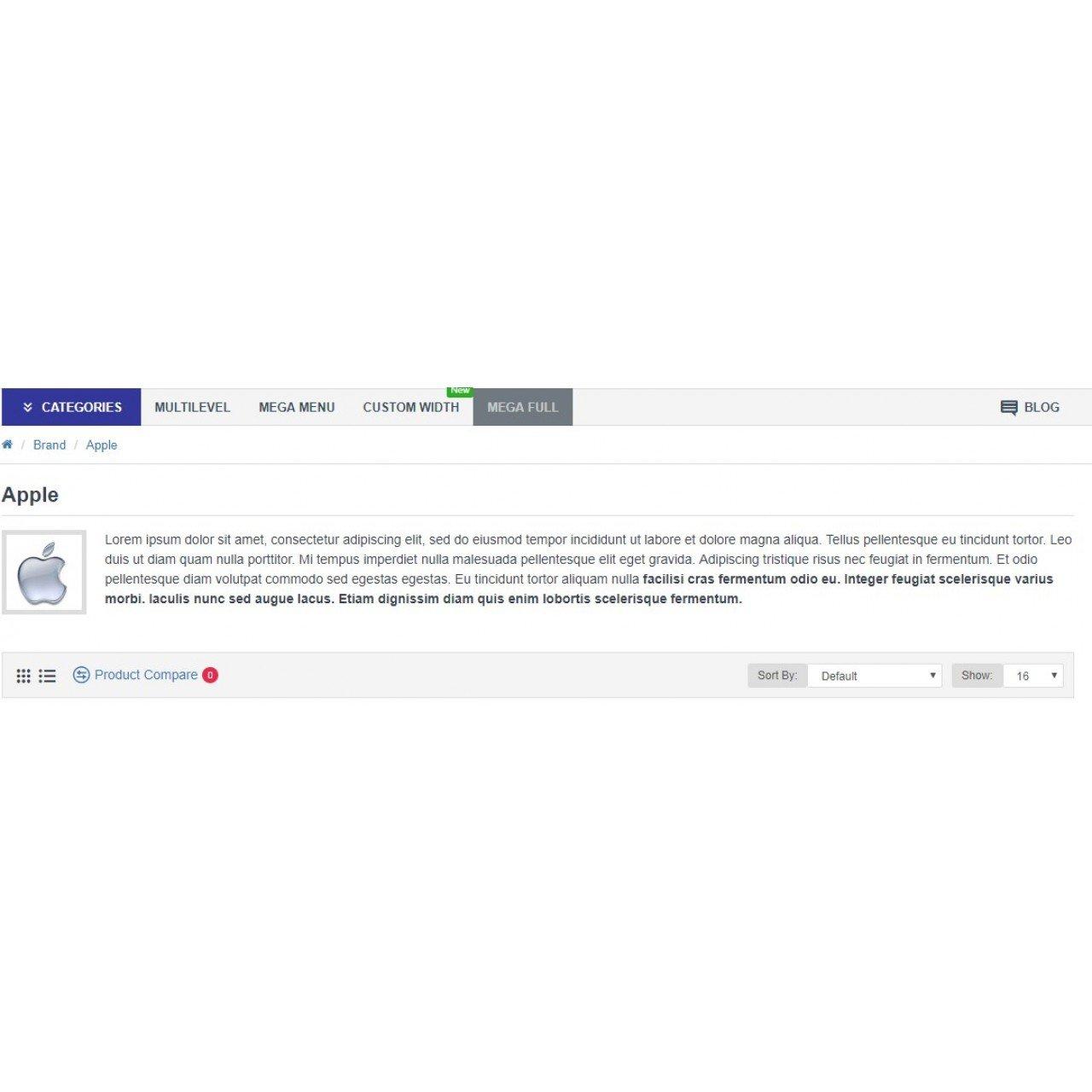 Опис Виробника Opencart3